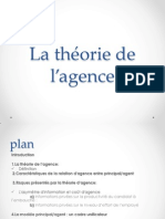 La théorie de l'agence