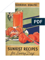 For Vigorous Health - Sunkist Recipes for Every Day.  1936