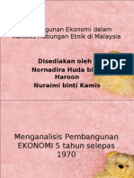 Pembangunan Ekonomi Dalam Konteks Hubungan Etnik Di Malaysia