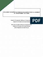Reglement interieur Fonds de Solidarité pour le Logement 2012