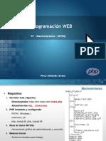 PHP1 07 Mysql Mantenimiento