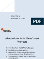 Julian Chang – China's New Economy