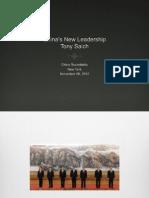 Tony Saich – China's New Leadership