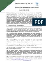 edital_concurso_pÚblico_para_provimento_de_cargo_efetivo_nº01-2013