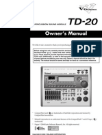 Roland TD-20 owner's manual