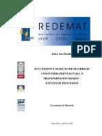 Eco-design e seleção de materiais como ferramentas para o transportation design - Estudo de processos