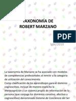 LA TAXONOMÍA DE ROBERTMARZANO