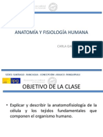CLASE 1 LA CÉLULA Y LOS TEJIDOS HUMANOS