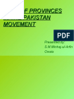 Role of Provinces in Pakistan Movement