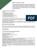 T. 1 Fuentes de Financiamiento a Mediano y Largo Plazo