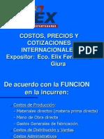 Precios y Cotizaciones Internacionales