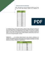 Ejemplos de Datos No Agrupados