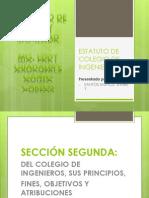 Exposicion Estatuto de Colegio de Ingenieros