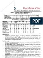 04.14.13 Post-Game Notes
