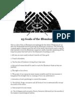 25 Goals of the Illuminati