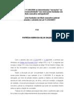 EXCEÇÃO DE PRÉ EXECUTIVIDADE - PATRÍCIA MÁRIS