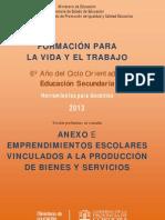 Emprendimientos Escolares 2013