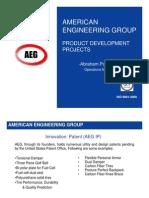 AEG Product Development Portfolio
