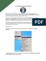 Cara Mengatasi Problem Not Responding Pada Windows 7