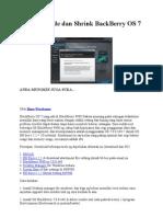 Cara Upgrade Dan Shrink BackBerry OS 7