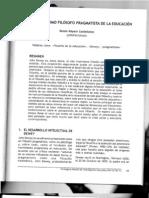 John Dewey como filósofo pragmatista de la educación por Renán Rápalo