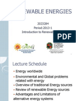 Lecture_1_introduction to Renewable Energy Systems
