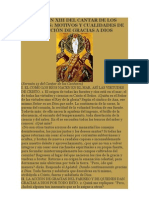 SERMÓN XIII DEL CANTAR DE LOS CANTARES