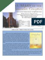 St Mary Avon April 14 Bulletin