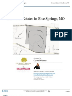 Neighborhood Report - Somerset Estates in Blue Springs MO 64015