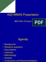 OQuinn A221MMAS Presentation