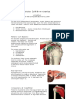 Rotator Cuff Mechanics