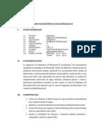SILABO Resistencia Materiales II 2013-I