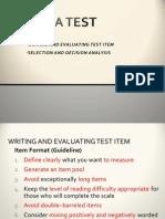 How Build a Test