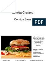 Comida Chatarra Comida Sana