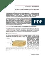 Fisiología Guía 01 - Membrana y Excitabilidad