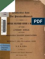 Sh Abbe Thai Sebi the Pseudo-Messiah - NEB Ezra