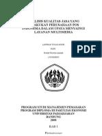 Analisis Kualitas Jasa Pada PT.POS Indonesia cabang pembantu bandung dalam upaya menyaingi layanan multimedia