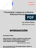Tecnologías Limpias en la Minería Artesanal Peruana2008