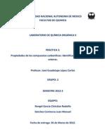Practica 3 Organica Aldehidos y Cetonas