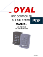 Soyal AR721 User Manual