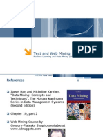 Machine Learning and Data Mining 19 Mining Text and Web Data 26716