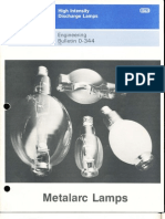 Sylvania Engineering Bulletin - Metalarc Lamps 1986