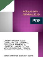 Normalidad - Anormalidad