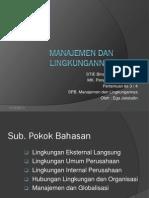 Manajemen Dan Lingkungannya