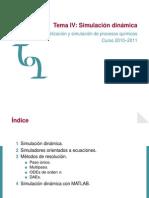 Simulación dinámica (teoria). Curso Modelación y Simulación dde Procesos