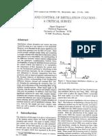 Dynamic and Control of Distillation Column