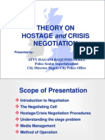 Lecture on Hostage Negotiation
