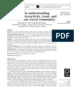 2005 IMDS Towards understanding members' interactivity, trust, and flow