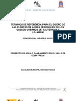 TDR PLANTAS DE AGUAS RESIDUALES AJUTERIQUE Y LEJAMANÍ