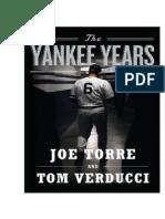 The Yankee Years by Joe Torre